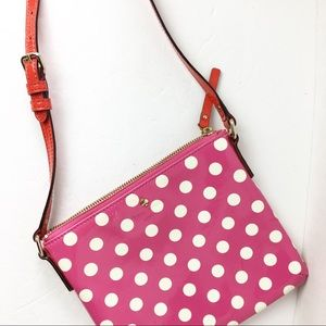 ♠️ Kate Spade Pink Patent Polka Dot Crossb…